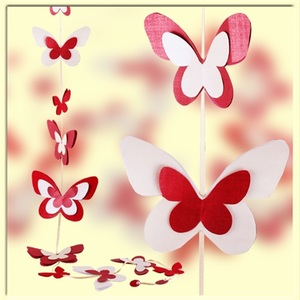 приснилось розовые бабочки из бумаги на стене движения