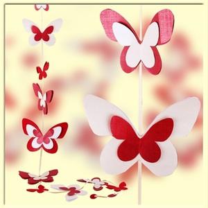 Гирлянда из бабочек из бумаги