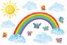 детская красочная наклейка Радуга