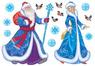 наклейка Дед Мороз и Снегурочка