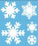 Трафареты снежинок, новогодний декор