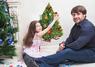 Новогодние наклейки на стены Винтажная елка - конструктор