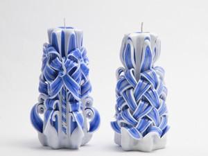 Резные свечи Гжель синяя