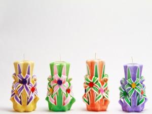 Свечи резные Полевые цветы
